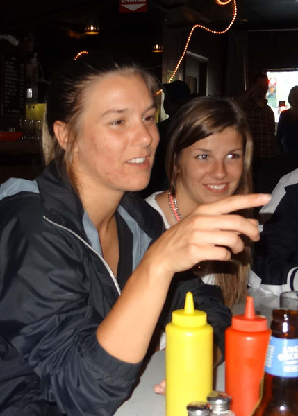Kelly making a point, and Natalie