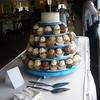 Wedding cupcake tier