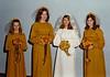 DOUG AND KAREN DUNCAN'S WEDDING<br /> St John's Episcopal Church, Fort Worth, Texas - January 22, 1972<br /> <br /> The bride's party: Stacey Duncan, Yvonne Gray, Karen, and Kathy Cyganowski