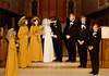 DOUG AND KAREN DUNCAN'S WEDDING<br /> St John's Episcopal Church, Fort Worth, Texas - January 22, 1972<br /> <br /> The Wedding Kiss (staged). Kathy and Doy are trying to look otherwise occupied, while Joe schmoozes for the camera and Ray sneaks a furtive glance.