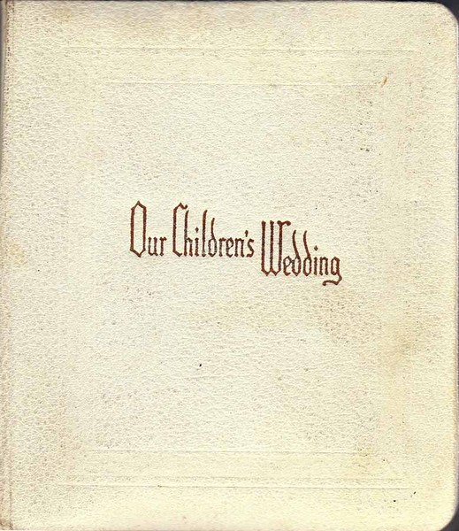 DOUG AND KAREN DUNCAN'S WEDDING<br /> St John's Episcopal Church, Fort Worth, Texas - January 22, 1972<br /> <br /> The cover of the wedding album my parents received.