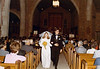 DOUG AND KAREN DUNCAN'S WEDDING<br /> St John's Episcopal Church, Fort Worth, Texas - January 22, 1972<br /> <br /> And the deed is done. I'll tell you, the photographer was very good at staged shots, but he was a lousy off-the-cuff shooter. I would've straightened this shot, but we would've lost our feet.
