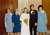 """DOUG AND KAREN DUNCAN'S WEDDING<br /> St John's Episcopal Church, Fort Worth, Texas - January 22, 1972<br /> <br /> The grandmothers' turn. On the far left is Karen's paternal grandmother, """"Bummy"""" (that's all I ever knew her by), joined by Karen's maternal grandmother, whose name I can no longer recall. That's my paternal grandmother, Beulah Dean, on my left. You can see where Jim got his rather dour facial expression."""