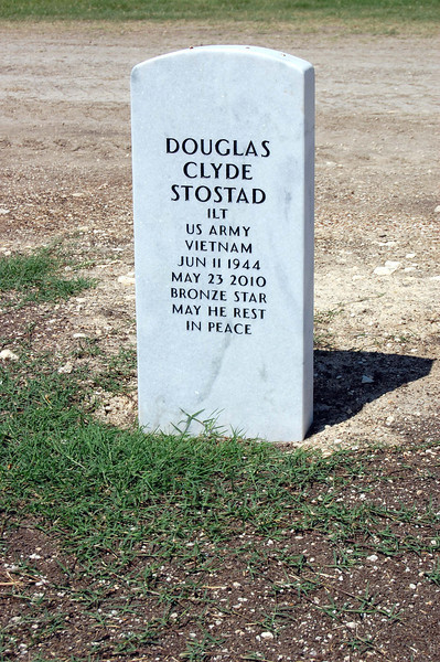His marker.  Since this photo, the space beyond him has been filled in.