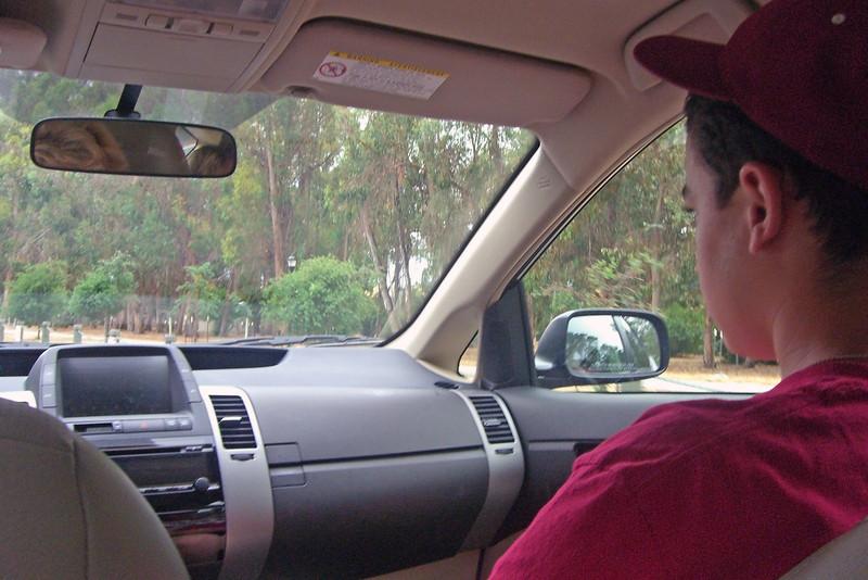 Zack in Prius at Stanford, June 25, 2013