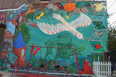 Wall mural, Philadelphia