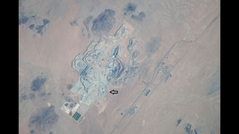 NASA Photo of Rio Tinto facility and open-pit mine near Boron, CA