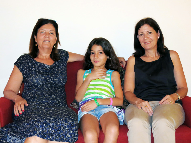 At our house: Hadas, Eden, Nurit