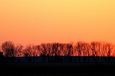 An Iowa sunset.  Had to stop the car by the road to get this.