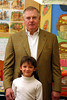 Anisa and her Granddad in her classroom.  Rich was here for the Holiday concert.