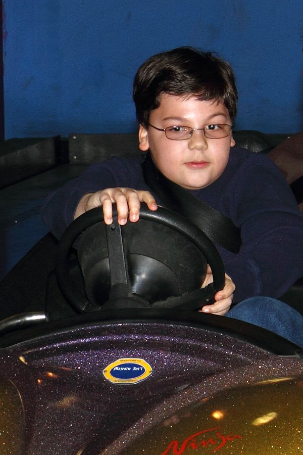 Andrew behind the wheel