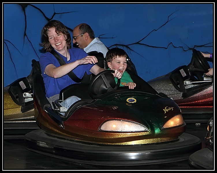 Bumper cars at top speed!