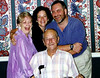 REVA NELL AND JOHNNY MCTYRE'S 50TH WEDDING ANNIVERSARY<br /> Dallas, Texas - 1996<br /> <br /> Reva Nell Cook McTyre, Denise McTyre Bennett, and George McTyre with Johnny McTyre in front