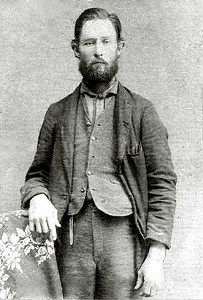 """JESSE JOHN DODSON (1854-1894) Son of Jesse J. Dodson, the first child of his second marriage (to Disa Mae """"Dicy"""" Findley)."""