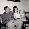 THE MCTYRES AT HOME<br /> Dallas, Texas<br /> <br /> Johnny and Reva Nell McTyre with Cocoa at home in Dallas, Texas.