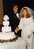 DOUG AND KAREN DUNCAN'S WEDDING<br /> St John's Episcopal Church, Fort Worth, Texas - January 22, 1972<br /> <br /> The obligatory cutting-the-cake shot.