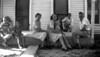 Duncan 4 - 1950 c  - Letha Jo Mather, Patsy Mather, Dessie (Duncan) Allman(?), Ozell (Duncan) Mather, James Mather, ____, Ira Duncan