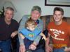 FOUR GENERATIONS - December 2009<br /> Bruce, Carl, Kyle, and little Skyler Duncan (chicks dig him)