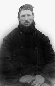 WILLIAM PINCKNEY DODSON An uncle of Benjamin Franklin Dodson, who served with Ben in the Texas State Troops in 1864. He looks like someone on an old polar expedition in this shot.