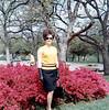 LYNDA AMONGST THE AZALEAS<br /> Turtle Creek Boulevard, Dallas, Texas - Easter 1968