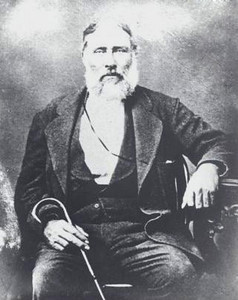 SAMUEL E MATHER (1812–1878) Masonic photo taken in 1852  Samuel E. Mather, state legislator and prominent businessman, was born on October 8, 1812, in Northumberland (formerly Northumbria-upon-Tyne), England, son of Andrew Mather. Samuel married Sarah Parker Smith on August 28, 1846, in San Augustine, Texas, and they moved to Williamson County and settled on the North San Gabriel River in 1849. He built a gristmill on the river, where the town Gabriel Mills was soon developed in the mid-1850s. A major flood in 1854 destroyed his mill, but Samuel was undeterred, and by 1856 he had rebuilt, adding a church and school to the area. In 1858 he was the postmaster for Gabriel Mills. Samuel Mather was a Mason (Past Grand Master) and a founding member of the Mount Horeb Lodge No. 137, A.F. & A.M., in Mahomet, Burnet County, Texas. Mather served as a Texas state representative in the Ninth Legislature from 1861 to 1862.   Samuel Mather died in Hays County in the vicinity of the future community of Kyle on May 17, 1878, and was buried there two days later.   [The above captioning derived from The Handbook of Texas Online.]