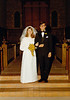 DOUG AND KAREN DUNCAN'S WEDDING<br /> St John's Episcopal Church, Fort Worth, Texas - January 22, 1972<br /> <br /> The happy bride and groom. (They're mostly happy it's finally over!)