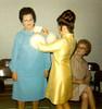 BEULAH, LYN, AND VIRL AT KAREN AND DOUG'S WEDDING<br /> St John's Episcopal Church, Ft Worth, Texas - January 22, 1972