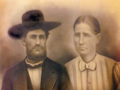 JESSE HINTON MORRIS AND WIFE NANCY WINIFRED (STARR) -- 2-14-1861
