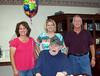 Carl Elton Duncan and children Diane, Donna and Bruce - June 2009