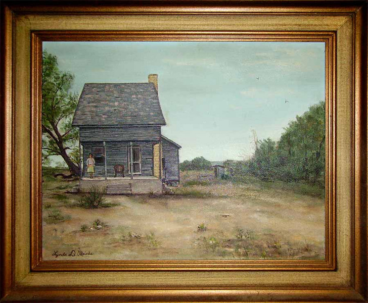 THE OLD MATHER HOMEPLACE - LIBERTY HILL, TEXAS<br /> Painting by Lynda Duncan Meinke