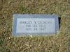 DUNCAN, HARLEY V<br /> Pleasant Grove Cemetery, Star, Texas