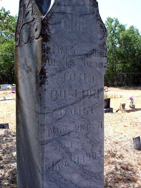 BULLION, JOHN<br /> Williams-Buck Cemetery, Liberty Hill, Texas
