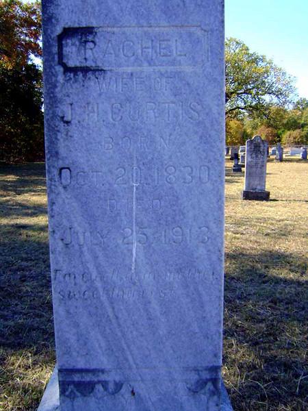 CURTIS, RACHEL (STARR)<br /> Pleasant Grove Cemetery, Star, Texas