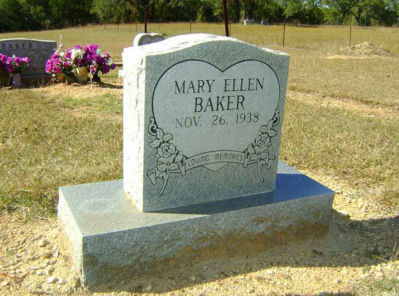 BAKER, MARY ELLEN [living]<br /> Mather Family Cemetery, Liberty Hill, Texas