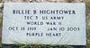 HIGHTOWER, BILLIE BERLEY - SERVICE STONE<br /> Center Cemetery, Lometa, Texas