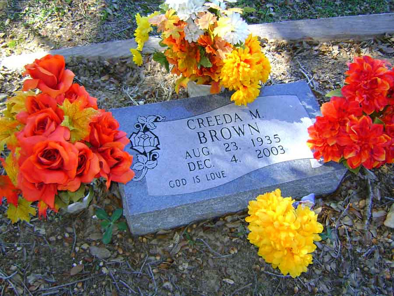 BROWN, CREEDA McPHERSON<br /> Mather Family Cemetery, Liberty Hill, Texas