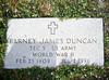 DUNCAN, BARNEY JAMES - MILITARY MARKER<br /> Copperas Cove Cemetery, Copperas Cove, Texas