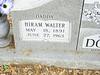 DODSON, HIRAM WALTER<br /> Telico Cemetery, Ennis, Texas