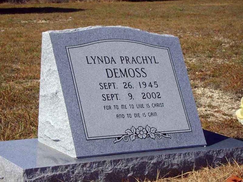 DEMOSS, LYNDA (PRACHYL)<br /> Payne Gap Cemetery, Star, Texas