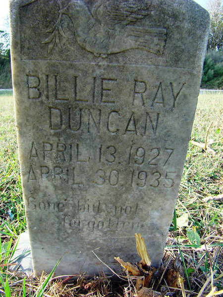 DUNCAN, BILLIE RAY<br /> Gregory Cemetery, Gregory, Texas