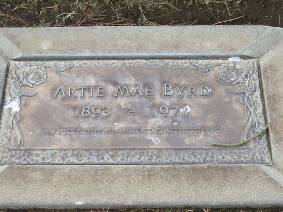 BYRD, ARTIE MAE (DUNCAN)<br /> Los Osos Valley Memorial Park, Los Osos, California