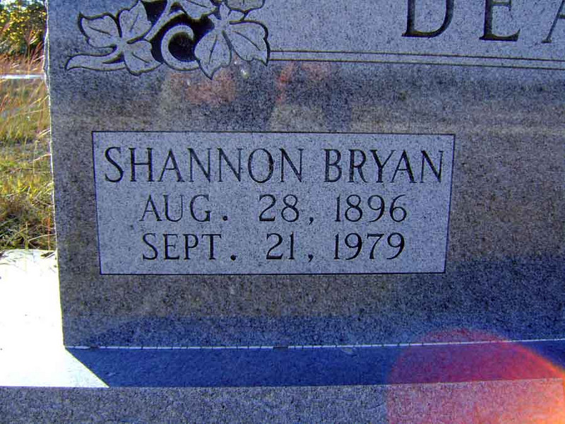 DEAN, SHANNON BRYAN<br /> Senterfitt Cemetery, Lometa, Texas