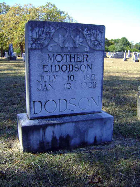 DODSON, EASTER ISABELL (CURTIS)<br /> Pleasant Grove Cemetery, Star, Texas