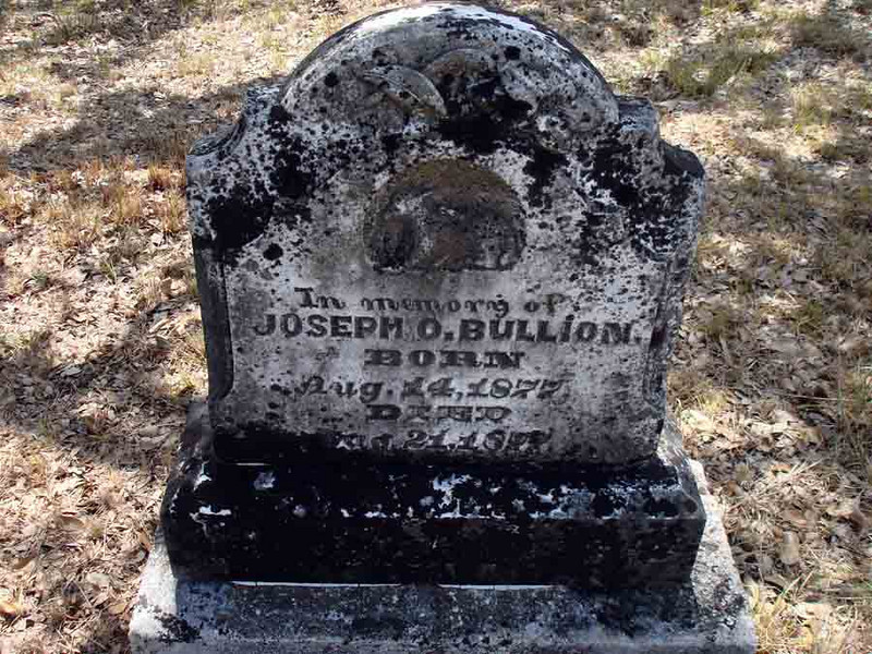 BULLION, JOSEPH O.<br /> Williams-Buck Cemetery, Liberty Hill, Texas
