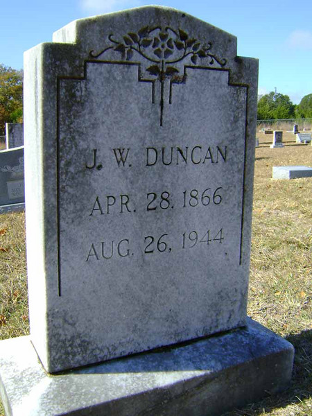 "DUNCAN, JAMES WILSON ""SHARK""<br /> Pleasant Grove Cemetery, Star, Texas"