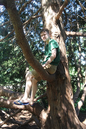 Aaron still loves to climb