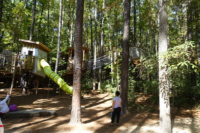 Treehouse area - James Neely is getting married here later in the day