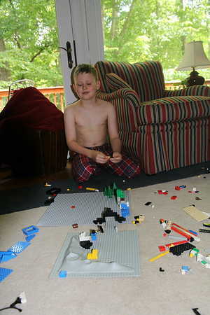 Lego Minecraft - I told him it made Nana happy that he used trees