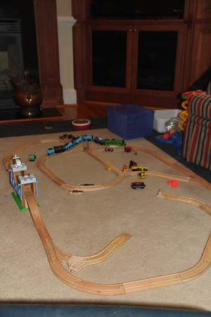 Thomas train toys had to follow us to Durham