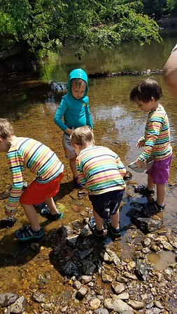 Elliot makes friends everywhere - these kids wanted Elliot to help them catch tadpoles